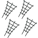 WINGOFFLY 4Pcs Plastic Superimposed Garden Plant Support Pot Mini DIY Climbing Trellis Flower Supports