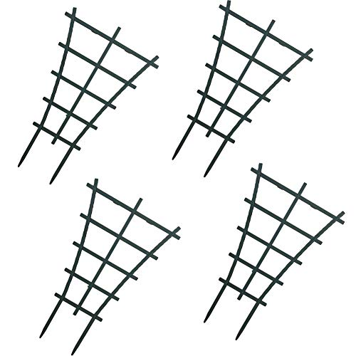 WINGOFFLY 4Pcs Plastic Superimposed Garden Plant Support Pot Mini DIY Climbing Trellis Flower Supports by WINGOFFLY