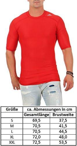 adidas Techfit Funci/ón Climachill Camiseta Compression Rojo Hombre