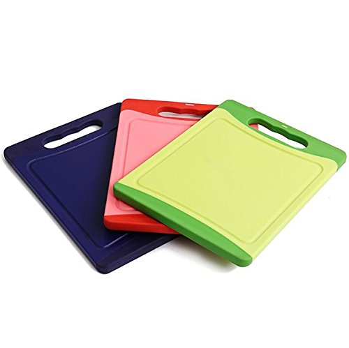 Tuanhui Polyethylene Reversible Cutting Board, Green, 20 x 15 x 0.9cm