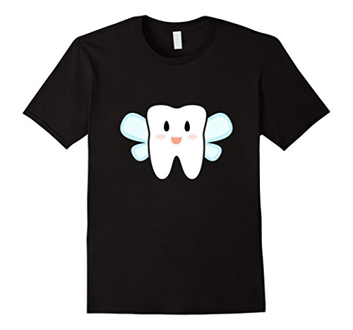 Mens Tooth Fairy Halloween Costume T-Shirt XL Black (Toddler Tooth Fairy Costume)