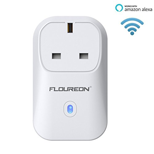 FLOUREON Wi-Fi Smart Socket US Plug Outlet Timer Switch Works with Amazon  Alexa Echo No Hub Required Support IOS Android Phones Voice Control App
