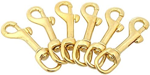Heavy Duty Diving Swiver Hook Solid Brass Swivel Eye Lobster Clasp Bolt Snap Trigger Hook for Straps Bags Underwater Diving Equipment