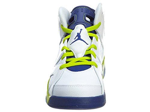 Nike Jordan 6 Retro Gp, Zapatillas de Deporte para Niñas wht, frc grn-dp ryl bl-hypr pnk