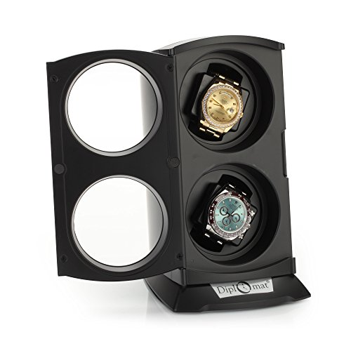 Diplomat 31-497 Matte Black Finish Watch Winder