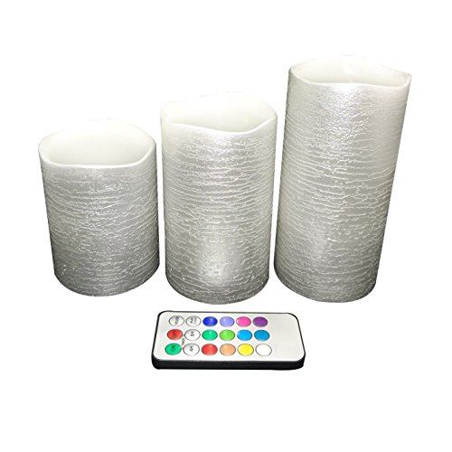 silver candles with timer - 5