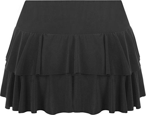 WearAll Jupes Tailles Noir Mini ruche 42 jupe 36 Femmes vp1vr