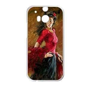 Flamenco Dancer HTC One M8 Cell Phone Case White rsbp