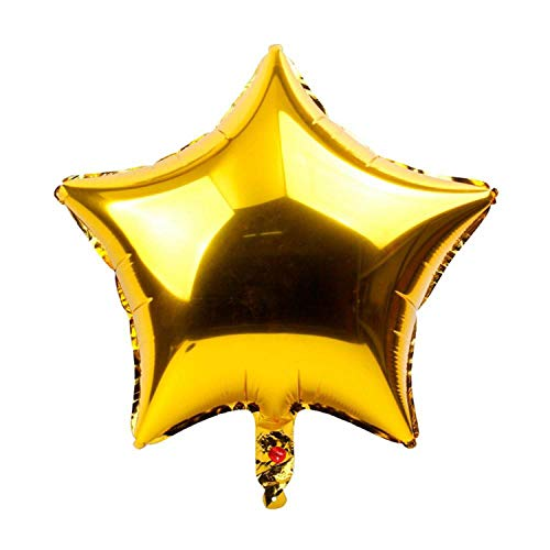 Noon-Sunshine decorative-plaques 17PCS Balloon Happy Birthday Balloonation Kids Boy Girl Party Ballon Number,5pcs Gold Star ()