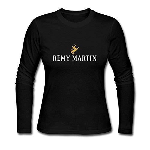 LSalas Women s T-Shirts Remy Martin Logo Long Sleeve Tee Shirts 44b91f701
