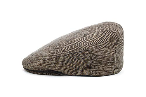 (Brixton Men's Hooligan Driver Snap Hat, brown/khaki, Medium)