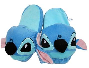 bb3a65b6df51 Disney Lilo   Stitch Slippers - Plush Stitch House Slippers