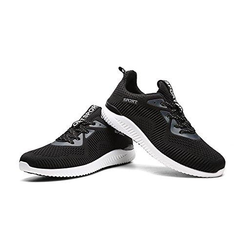 Nr. 66 Town Womens Heren Gratis Lichtgewicht Flyknit Platte Hardloopschoenen Paar Sneakers Zwart