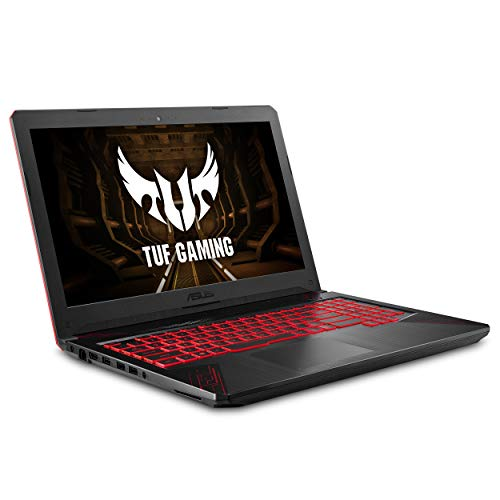 """ASUS TUF Thin & Light Gaming Laptop PC (FX504) 15.6"" Full HD, 8th-Gen Intel Core i5-8300H (up to 3.9GHz), GeForce GTX 1050 2GB, 8GB DDR4 2666 MHz, 1TB FireCuda SSHD, Windows 10 64-bit - FX504GD-ES51"""
