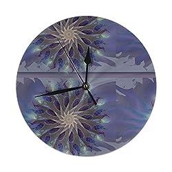 Dadi-Design Dream Weaver Wall Clock Silent & Non-Ticking Quartz Clock PVC for Home Office School Decorative Round 9.8
