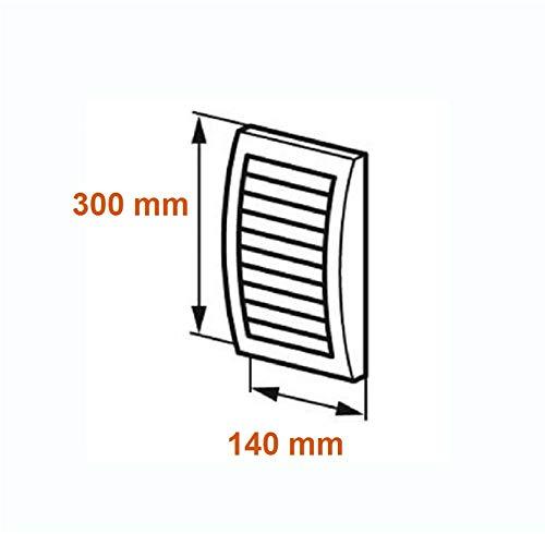 L/üftungsgitter 140x300mm Abschlussgitter Insektenschutz wei/ß ABS Gitter N30