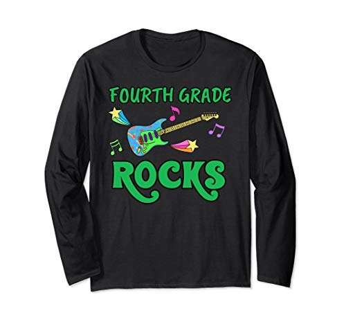 (Back To School Fourth Grade Rocks Long Sleeve T-Shirt )