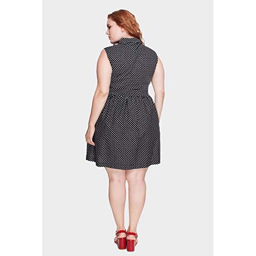 Vestido Poá Plus Size Preto-54