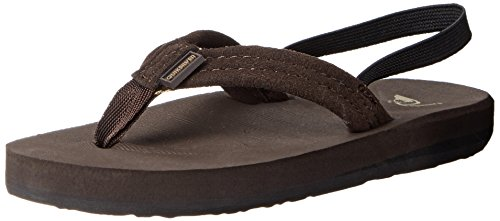 Quiksilver Carver Suede Toddler Sandal (Toddler), Demitasse Solid, 7 M US (Dmt Shoes)