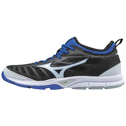 Mizuno (MIZD9) Men's Players Trainer 2 Turf Baseball-Shoes,Black/Royal,10.5 D (Royal Baseball Trainers)
