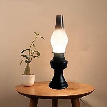 Amazon.com: Jiuzhuo Antique Kerosene Lamp Cracked Glass ...