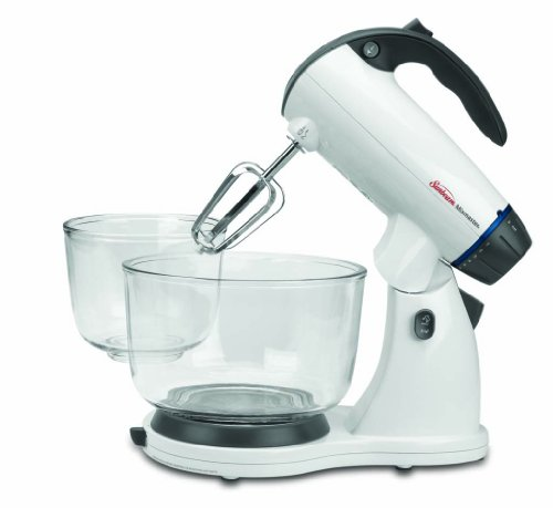 Sunbeam 002371-000-NPO MixMaster 350 Watt, White | Soft-Start Technology Stand Mixer