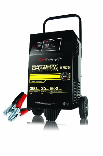 Schumacher (SE-2352-CA) 12V 200 Amp Automatic Wheel Battery Charger with Engine - Heavy Duty Charger Battery