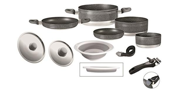 Batería cocina Brunner Popote Gourmet Rock 9 + 1: Amazon ...