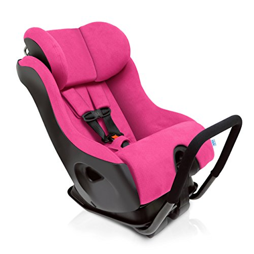 Clek Fllo Convertible Baby and Toddler Car Seat Rear and Forward Facing with Anti Rebound Bar, Flamingo 2018