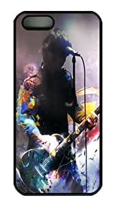 Case Cover Deidara's Shop Discount 7346542M97672413 Rugged iPhone 5S Case,Music Performances Polycarbonate PC Plastic Hard Case Cover for Apple iPhone 5S/5 Black