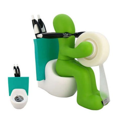 ARAD The Butt Office Supply Station Desk Accessory Holder, Green
