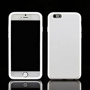 """Totoab New Touch Screen Flip Frosted Slim Transparent Case Cover For iPhone 6 4.7""""(White)"""