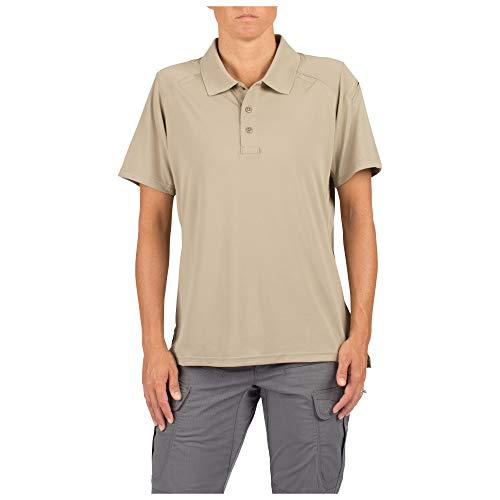 5.11 Women's Helios Polo Short Sleeve Tactical Shirt, Style 61305, Silver Tan, M