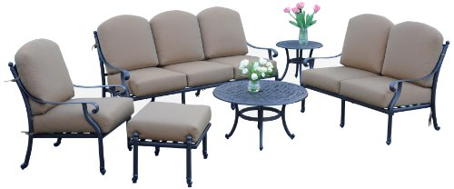 (Meadow Décor K6DP-W5448 Kingston 6-Piece Deep Seating Patio Set )