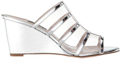 West Wedge Silver Sandal Jesty Nine Women Synthetic pIOOd7
