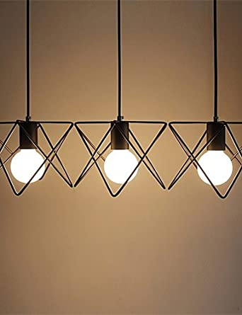 HJL- YL lámparas de araña 3 bombillas LED luces de techo clásico/rústico/Lodge/vintage/farol/Metal Estilo minimalista, 110 - 120 V-warm white: Amazon.es: ...
