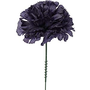 Larksilk Navy Blue 3.5″ Silk Carnations with 5″ Stem Pick | Artificial Flowers for Wedding Decorations, DIY Decor, 100 Count Bulk
