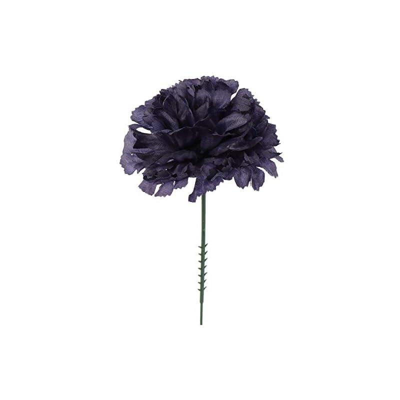 "silk flower arrangements larksilk navy blue 3.5"" silk carnations with 5"" stem pick | artificial flowers for wedding decorations, diy decor, 100 count bulk"