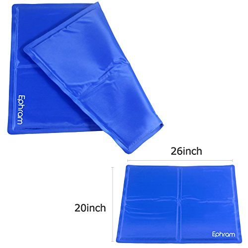 Ephram Pet Dog Cooling Gel Mat Pad Dogs Cat Self Chilly