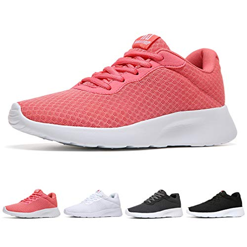 MAIITRIP Womens Workout Shoes Breathable Gym Casual Running Jogging Walking Sport Athletic Fashion Tennis Sneakers Pink Size 9.5