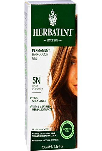 Herbatint Herbal Haircolor Permanent Gel 5N Light Chestnut 4.56 oz