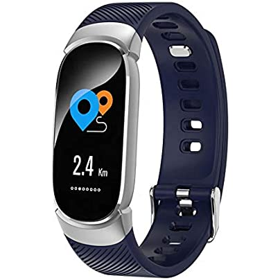 ACCDUER Waterproof Smart Band Heart Rate Monitor Wristband Bracelet Pedometer IP67 Waterproof Sleep Monitoring Pedometer for Women and Men Estimated Price £34.66 -