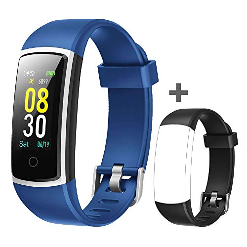 YAMAY Fitness Tracker with Blood Pressure Monitor Heart Rate Monitor,IP68 Waterproof Activity Tracker 14 Mode Smart Watch with Step Counter Sleep Tracker,Fitness Watch for Women Men - Hearts Moda