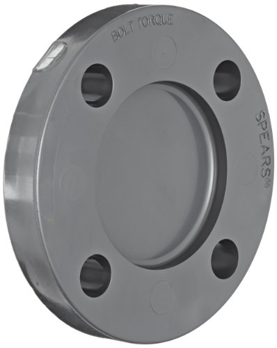 (Spears 853 Series PVC Pipe Fitting, Blind Flange, Class 150, Schedule 80, Gray,)