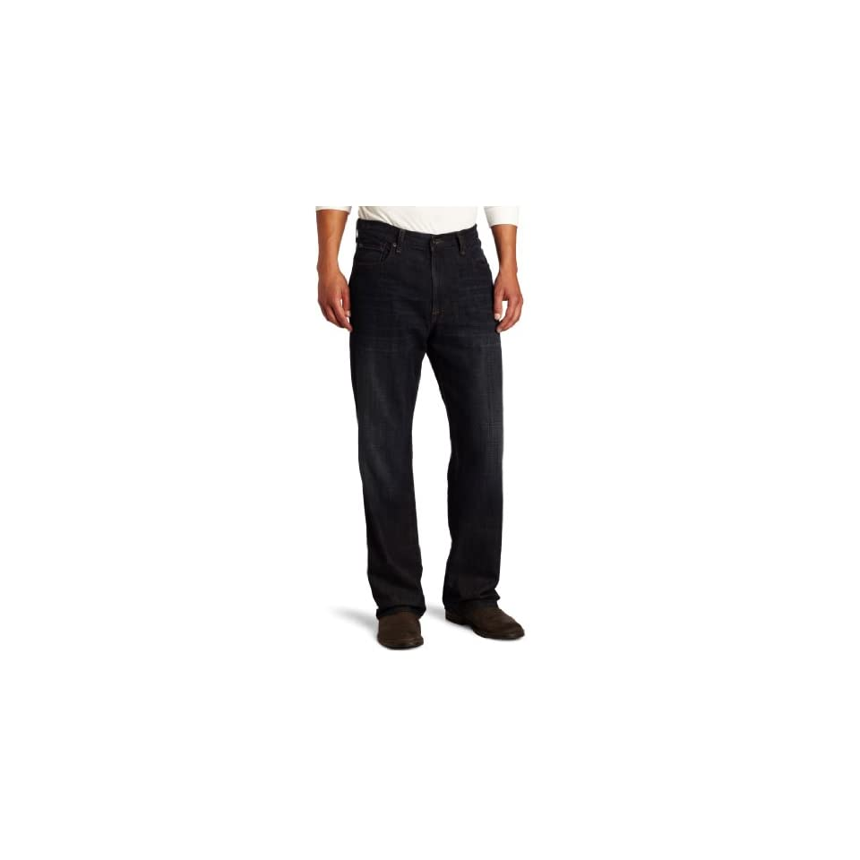 Lucky Brand Mens 181 Relaxed Straight Leg Jean in Ol Night Shift