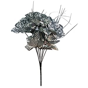 MM TJ Products Artificial Silver-color roses Bouquet 33