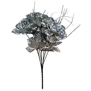 MM TJ Products Artificial Silver-color roses Bouquet 53