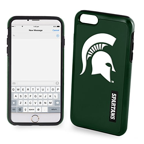 Michigan State Spartans Impact Dual Hybrid iPhone 6/6s Cover - TPU (2 Piece - Hockey Pants Edge