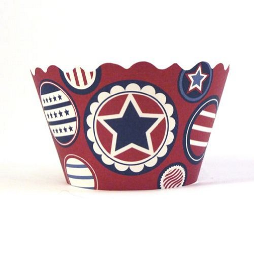 Patriotic Stars and Stripes Cupcake Wrappers - pack of 84 by BCC