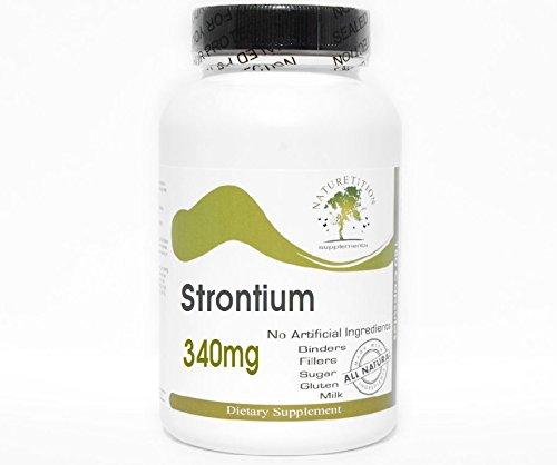 Strontium 340mg Bone Support ~ 200 Capsules - No Additives ~ Naturetition Supplements (Strontium Additives)